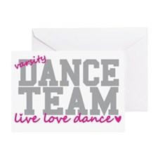 dance-team-varsity-college Greeting Card