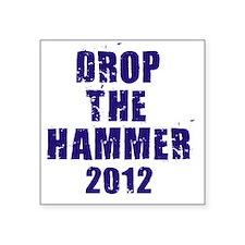 "krauthammer back Square Sticker 3"" x 3"""