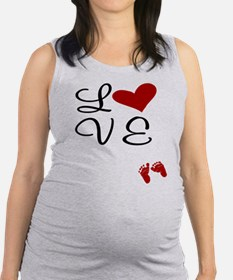 Love Baby Feet Maternity Tank Top