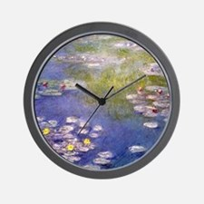 Nympheas at Giverny Wall Clock