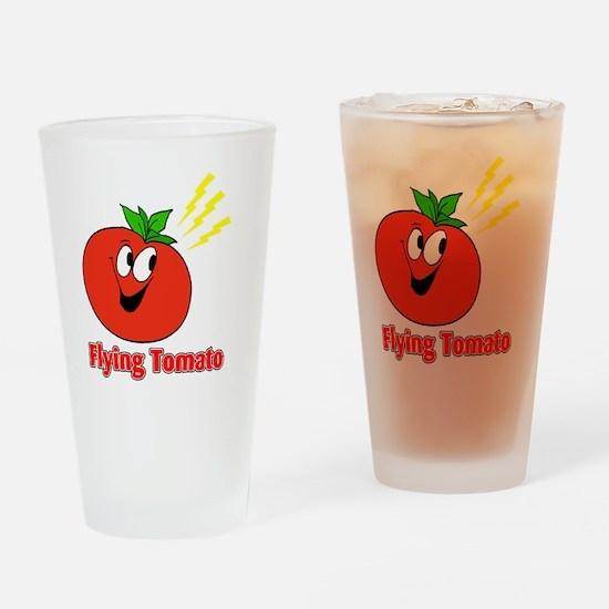 flying tomato Drinking Glass