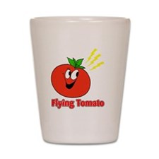 flying tomato Shot Glass