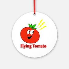 flying tomato Round Ornament