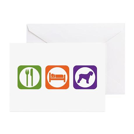 Eat Sleep Terrier Greeting Cards (Pk of 10)