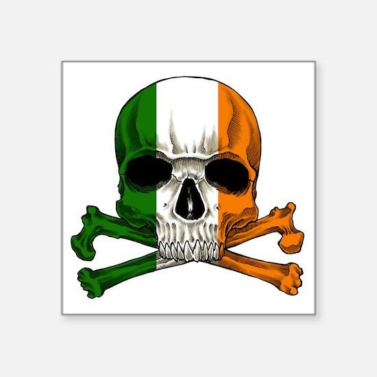 "irish bad ass_plain Square Sticker 3"" x 3"""