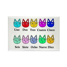 Spanish Counting Rectangle Magnet (10 pack)