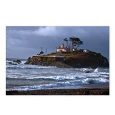 (14) battery point lighth Postcards (Package of 8)