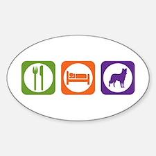 Eat Sleep Collie Oval Decal