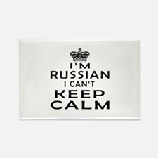 I Am Russian I Can Not Keep Calm Rectangle Magnet