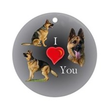 I love You GSD Ornament (Round)