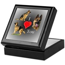 I love You GSD Keepsake Box