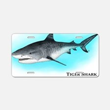 Tiger Shark Aluminum License Plate