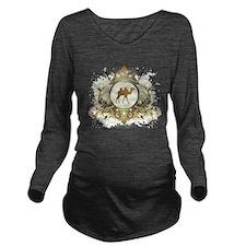 Stylish Camel Long Sleeve Maternity T-Shirt