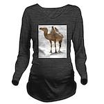Hand Drawn Camel Long Sleeve Maternity T-Shirt
