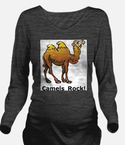 Camels Rock Long Sleeve Maternity T-Shirt