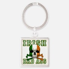 irish bad ass Square Keychain