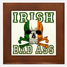 irish bad ass Framed Tile