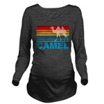 Colorful Camel Long Sleeve Maternity T-Shirt