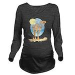 Camel Long Sleeve Maternity T-Shirt
