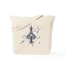 SkullSpadeGray Tote Bag