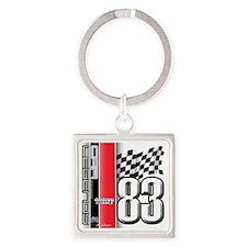 ORIGCLASSIC83 Square Keychain