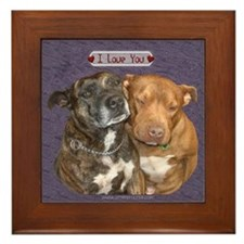 I love you Staffy Framed Tile