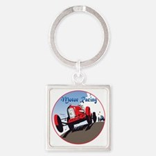 MotorRacing-C8trans Square Keychain