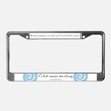 Cute Natural birth License Plate Frame