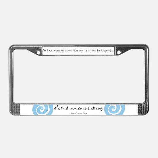 Cute Childbirth License Plate Frame