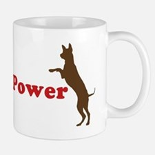 Tripawd Power Three Legged GSD Dog Bowl Mug