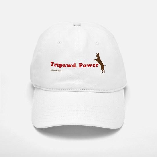 Tripawd Power Three Legged GSD Dog Bowl Baseball Baseball Cap