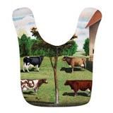 Cows Fleece Bibs