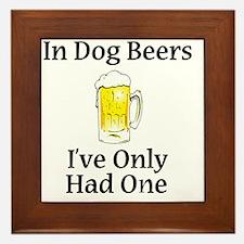 Dog Beers Framed Tile