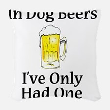 Dog Beers Woven Throw Pillow