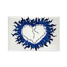 Barbed Heart Rectangle Magnet
