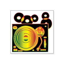 "Reggae DJ Square Sticker 3"" x 3"""
