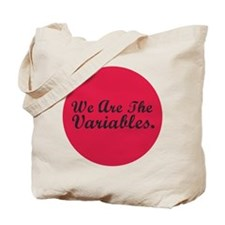 2-variables_button_pink Tote Bag