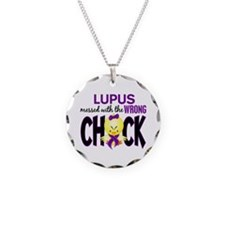 Lupus Messed With Wrong Chick Necklace
