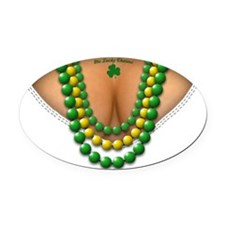 Me Lucky Charms 12x12 cafe Oval Car Magnet