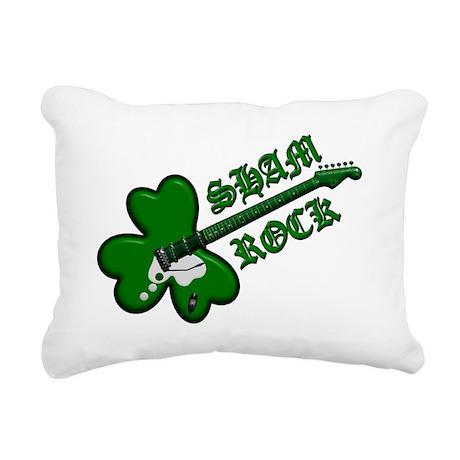 Sham Rock 4 drk Rectangular Canvas Pillow