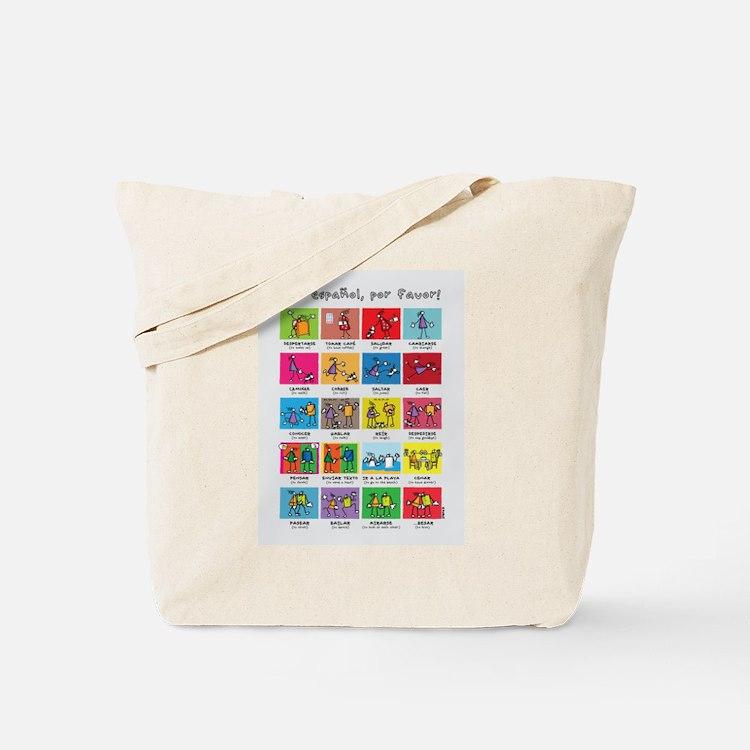 En español por favor poster Tote Bag