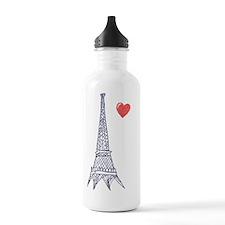 Love in Paris Water Bottle