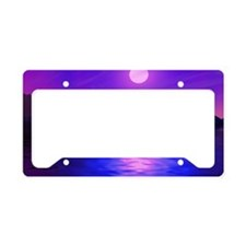 sunset-abstract License Plate Holder