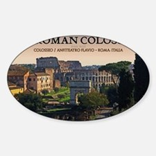 Rome - Forum and Colosseum Sticker (Oval)