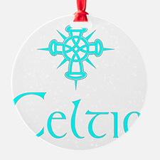 Aqua Celtic with Cross Ornament