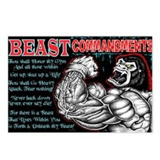 4-Commandments of the BEA Postcards (Package of 8)