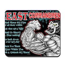 4-Commandments of the BEAST Mousepad
