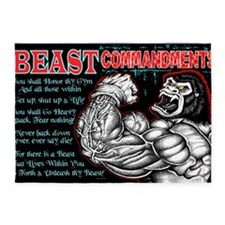 4-Commandments of the BEAST 5'x7'Area Rug