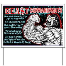 4-Commandments of the BEAST Yard Sign