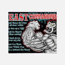 4-Commandments of the BEAST Throw Blanket